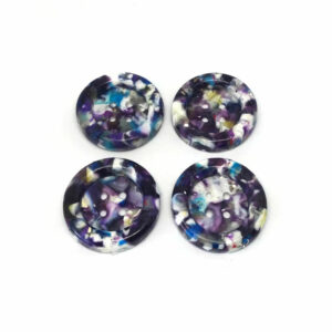 Speckled purple buttons.
