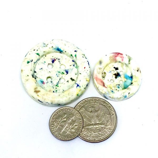 White Speckled Buttons