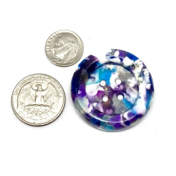 large purple white speckled button